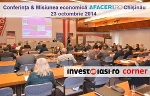 Invest in Iasi ajunge la Chisinau pe 23 octombrie